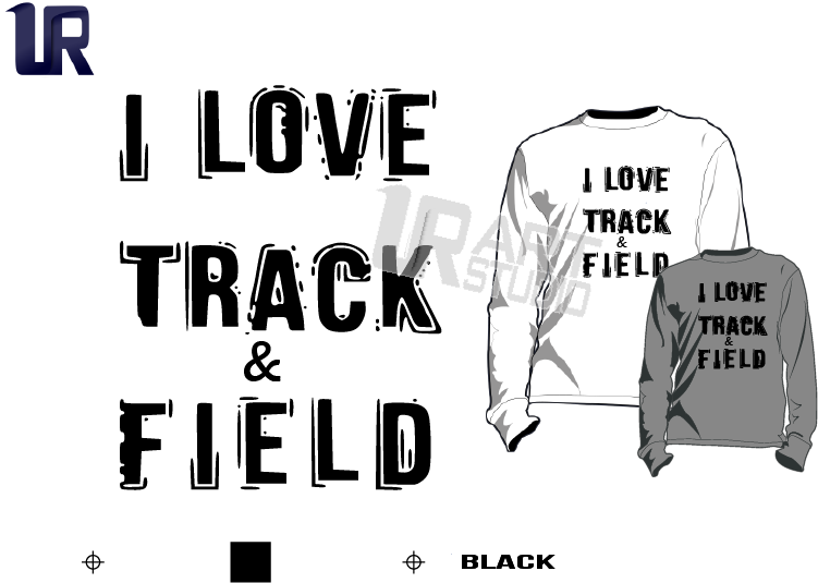 TSHIRT LOGO PRINT READY ONE COLOR I LOVE TRACK AND FIELD 2
