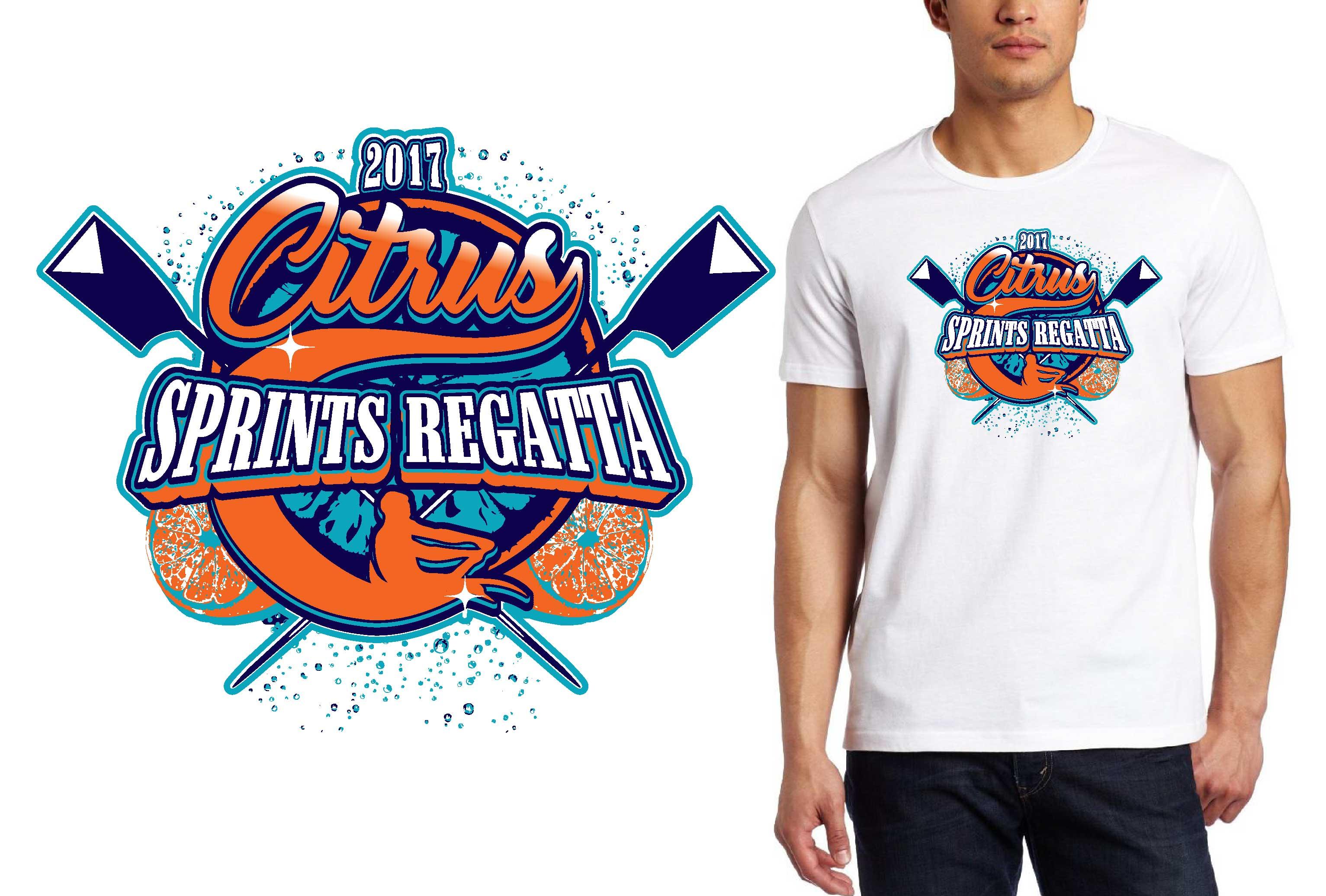 PRINT 1 21 17 Citrus Sprints Regatta t-shirt vector logo design for rowing