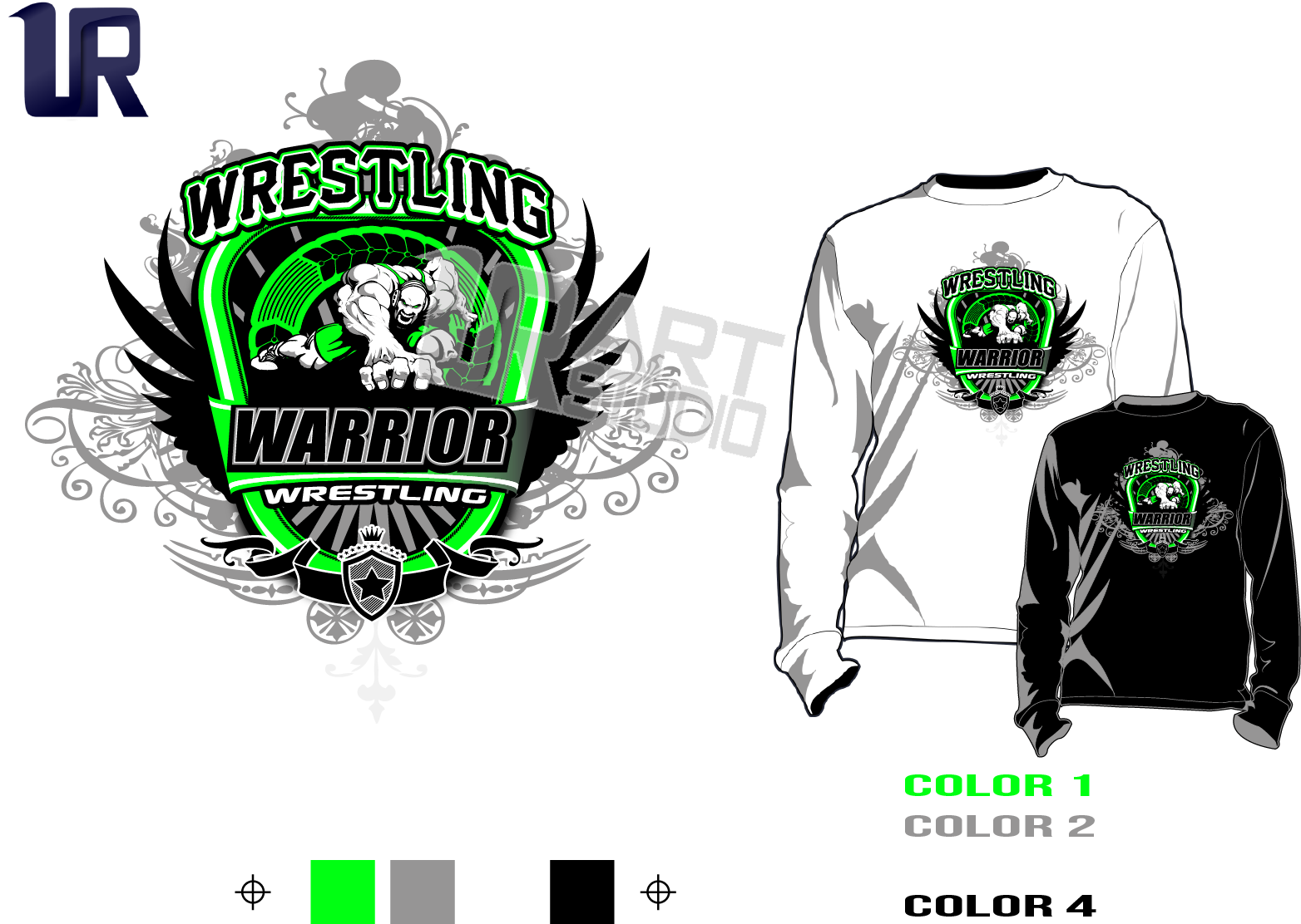 Creative custom apparel logo design portfolio samples ur for Wrestling tournament t shirt designs