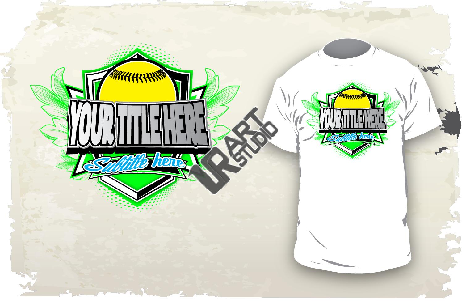 Download vector design for custom apparel your softball event