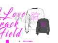 I LOVE TRACK AND FIELD FLU PINK TSHIRT LOGO PRINT READY ONE COLOR
