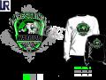 WRESTLING HARDCORE tshirt vector design separated 4 color