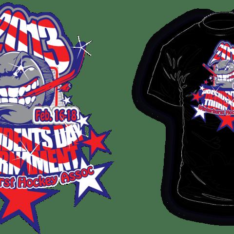Ice Hockey vector logo design for tshirt