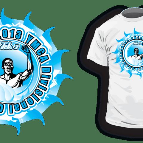 Swimming tshirt vector logo design