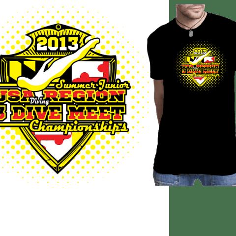 Diving tshirt design