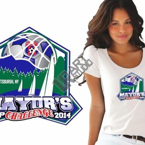 Creative custom logo design for soccer event
