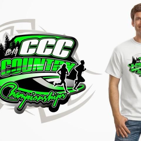 Tshirt custom vector logo design for Cross Country event
