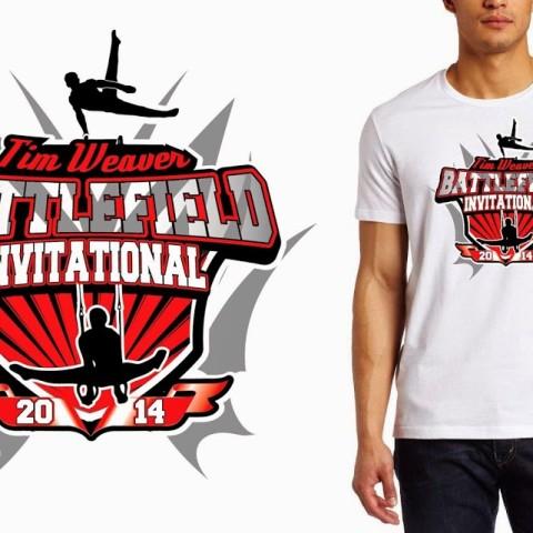 Tshirt custom vector logo design for Man Gymnastics event