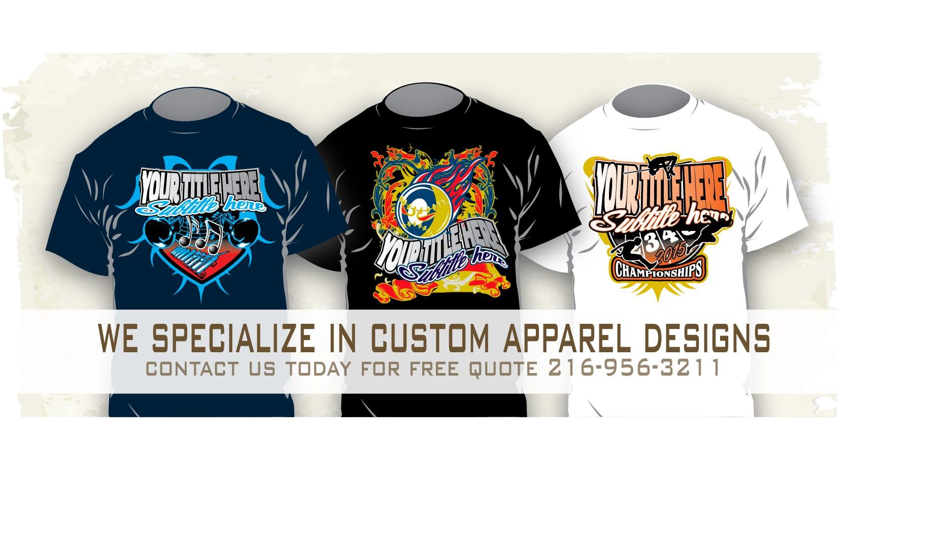 Custom apparel vector design templates for tshirts
