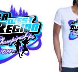cross country custom apparel logo design