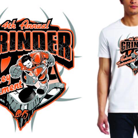 Amazing Ice Hockey custom apparel logo design