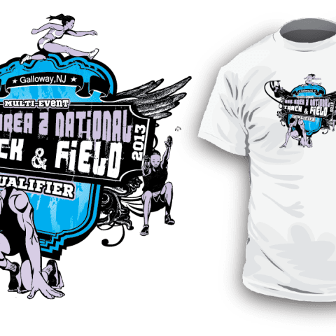 Awesome Track and Field tshirt logo design