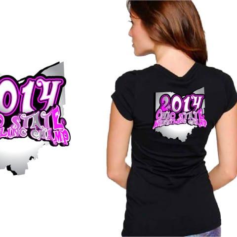 Girls Wrestling vector logo design for apparel