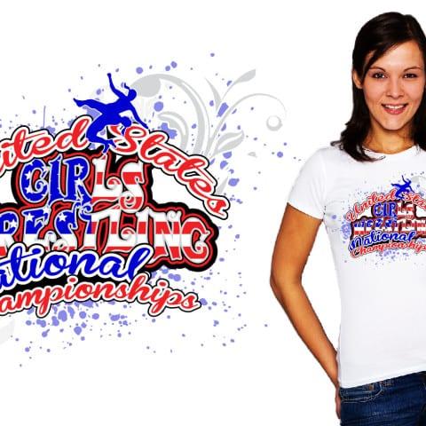 Best Wrestling vector logo design for apparel
