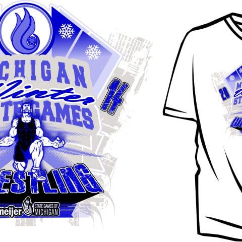 Custom Wrestling vector logo design for apparel