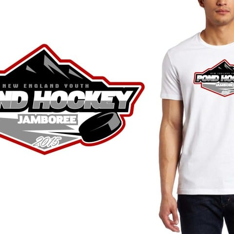 Professional Ice Hockey Vector Logo Design for Tshirt and Custom Apparel