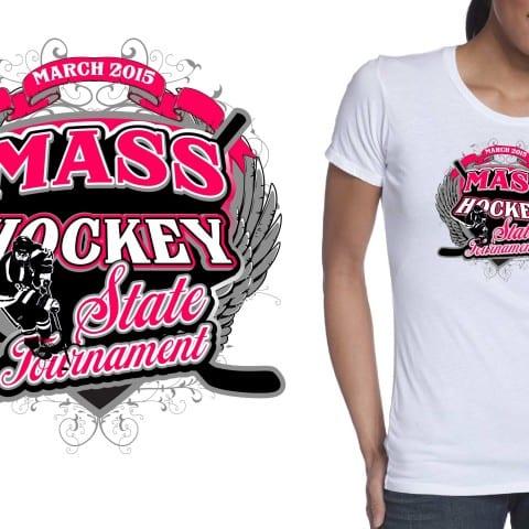 T-Shirt Logo design for girls ice hockey