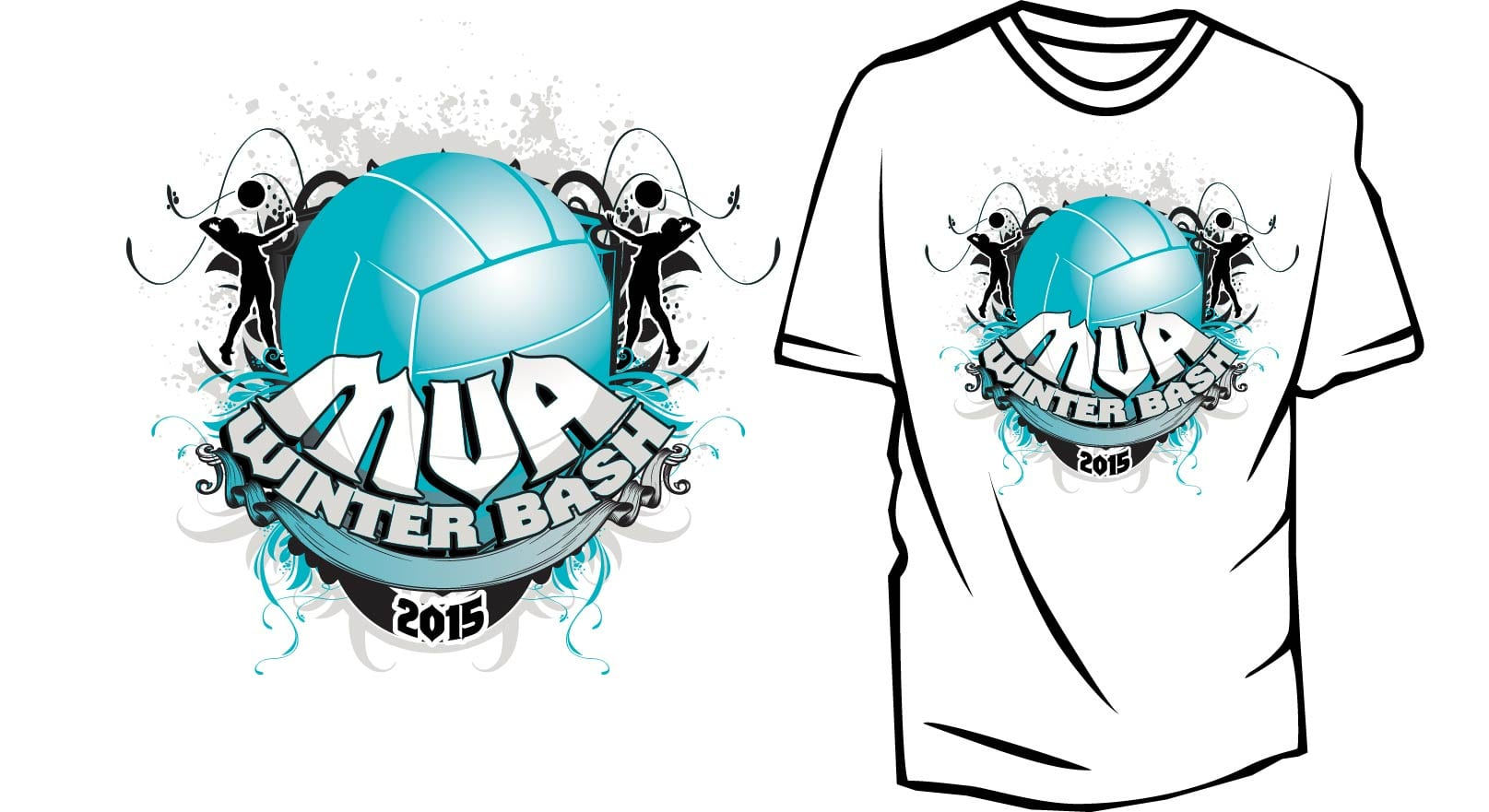 T-Shirt Logo design for volleyball event