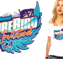 2014 30th Annual Fire Bird Invitational cross country tshirt design