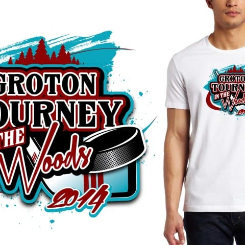 2014 Groton Tourney In The Woods hockey event tshirt design
