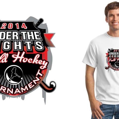 2014 Under the Lights Field Hockey Tournament tshirt design