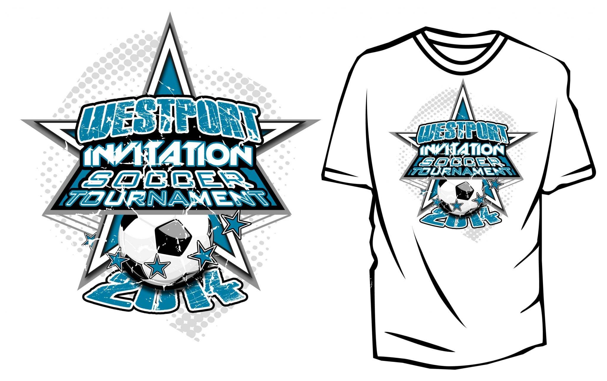 Design t shirt soccer - 2014 Westport Invitation Soccer Tournament Or Win2014 01