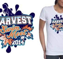 2014 harvest swim meet tshirt design