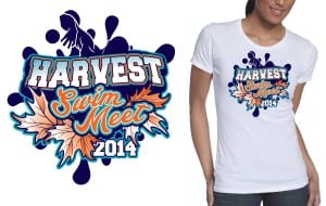 2014 harvest swim meet tshirt design