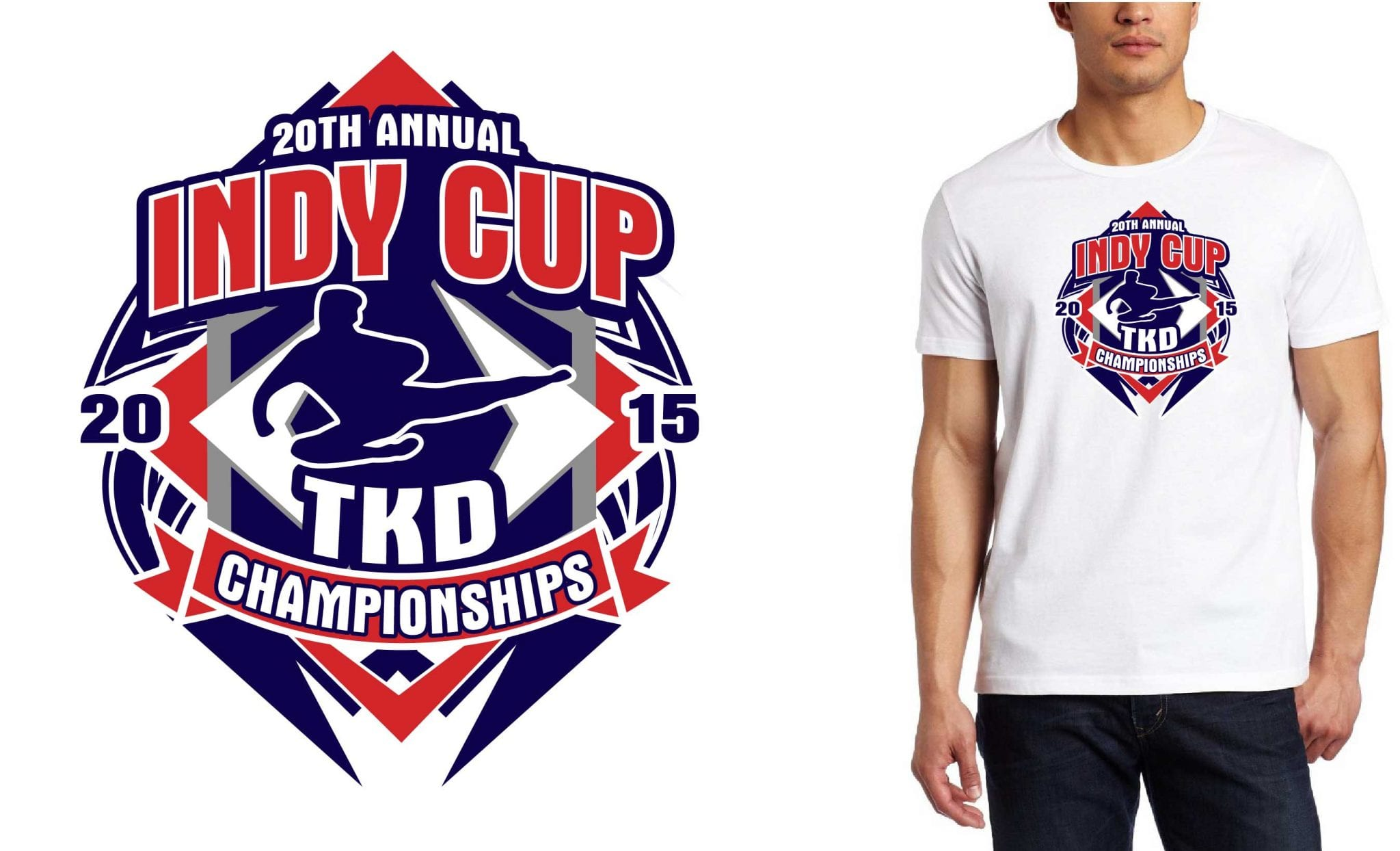 2015 20th Indy Cup TKD Championships tshirt design