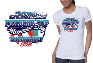 2015 23rd Annual Foxboro Cup Memorial Day Tournament best volleyball vector design for tshirt