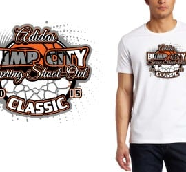 2015 Adidas Bump City Spring Shoot-Out Classic awesome basketball tshirt design