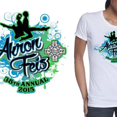2015 Akron Feis, The 38th Annual tshirt design