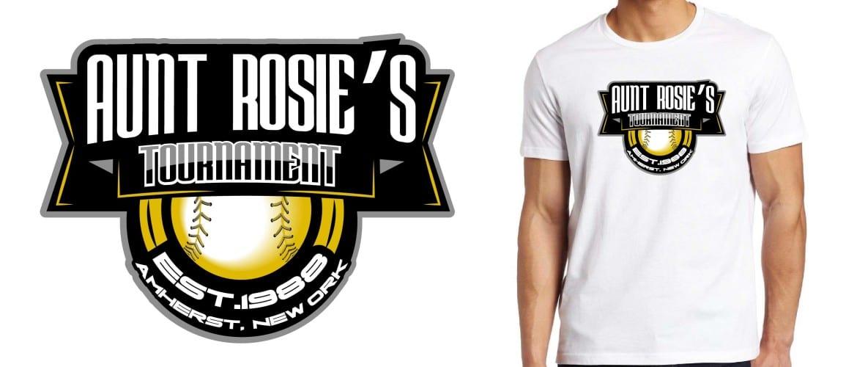 2015 Aunt Rosie's International softball tshirt design