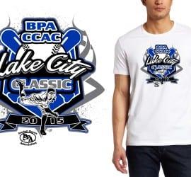 2015 BPA CCAC Lake City Classic professional baseball logo design for tshirt