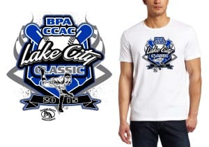 2015 BPA CCAC Lake City Classic professional baseball logo design for tshirt