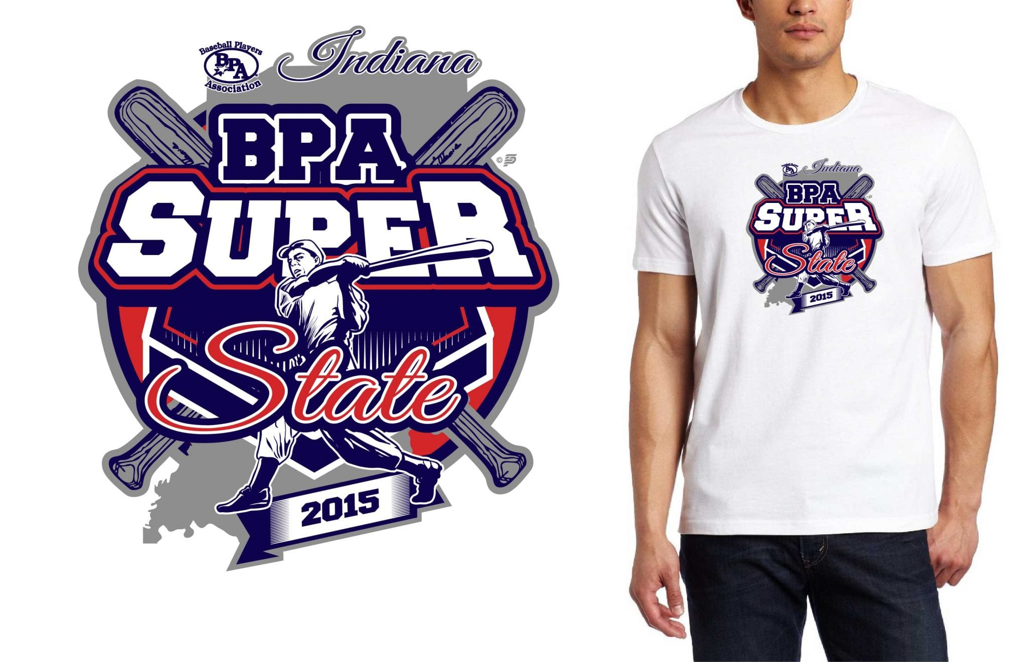2015 Bpa Super State Professional Baseball Logo Design For Tshirt