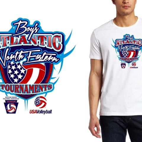 2015 Boys Atlantic Northeastern Tournaments Volleyball Event Tshirt Design
