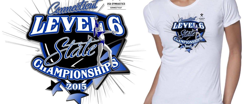 2015 CT Level 6 State Championship Gymnastic Vector Tshirt Logo Design