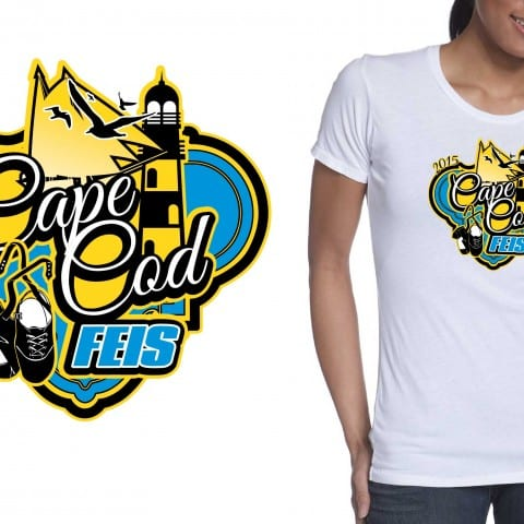 2015 Cape Cod Feis event nice vector tshirt logo design