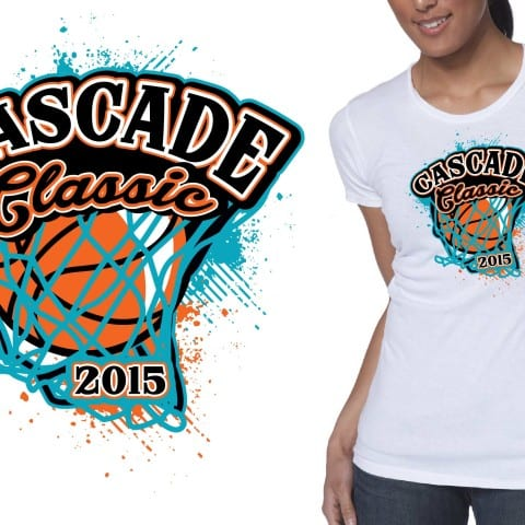 2015 Cascade Classic basketball tshirt design