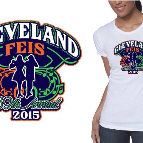 2015 Cleveland Feis the 59th Annual tshirt design