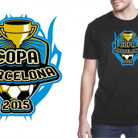 2015 Copa Barcelona Eyecatching vector logo design for soccer event for tshirt