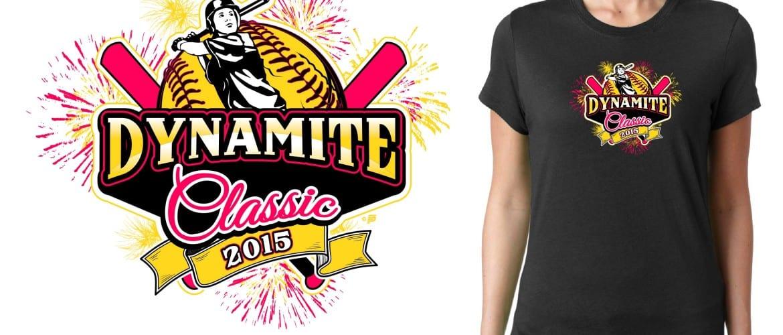 Softball T-Shirt Vector Logo Design 2015 Dynamite Classic