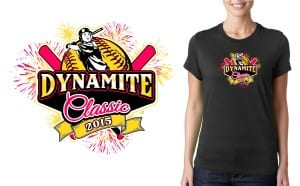 Softball T-Shirt Vector Logo Design 2015 Dynamite Classic
