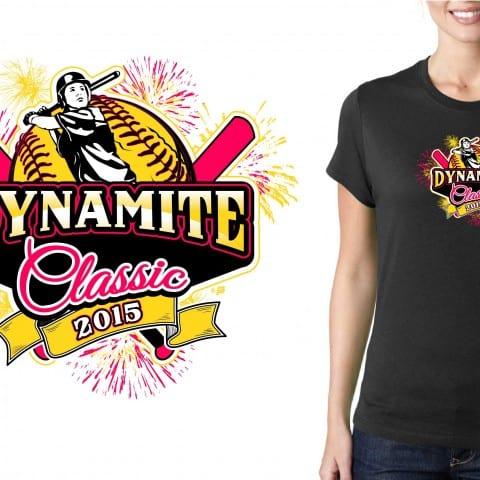 2015 Dynamite Classic Softball T-Shirt Vector Logo Design