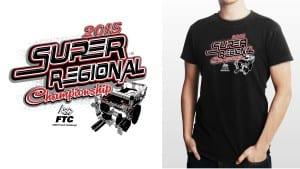 2015 FTC West Super- Regional Championship awesome robotics tshirt vector logo design