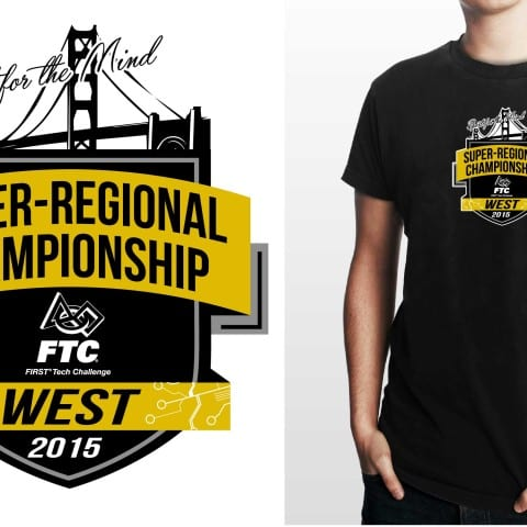 2015 FTC West Super- Regional Championship shirt vector design color separated by Ur Art Studio graphic designers located in Cleveland Ohio USA