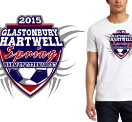 2015 Glastonbury Hartwell Spring Warm-Up Tournament tshirt design