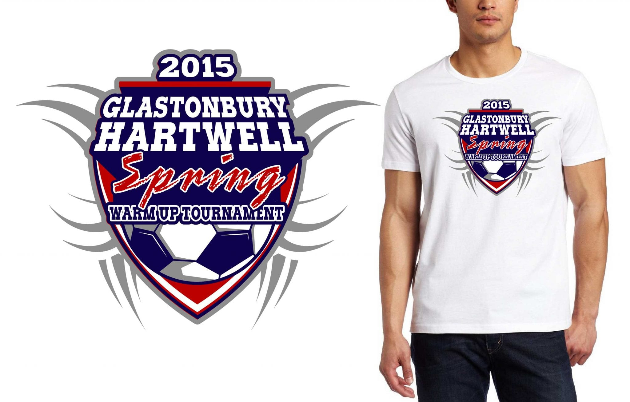2015 Glastonbury Hartwell Spring Warm-Up Tournament tshirt design