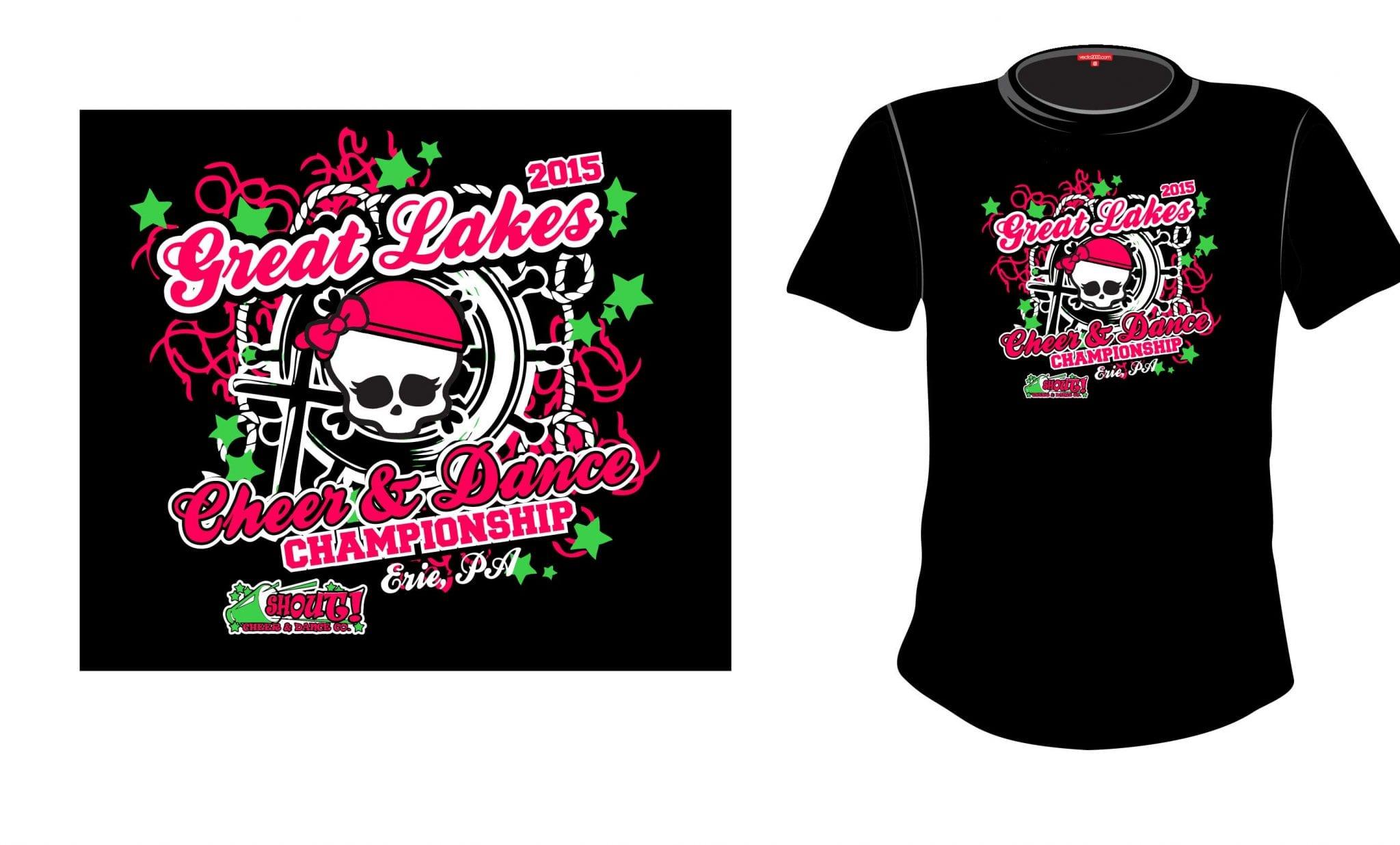 2015 Great Lakes Cheer and Dance Championship tshirt design